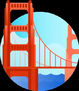 2021 US dollar USD forecast Image of Golden Gate Bridge