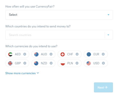 How to send money overseas with CurrencyFair -  Step 3